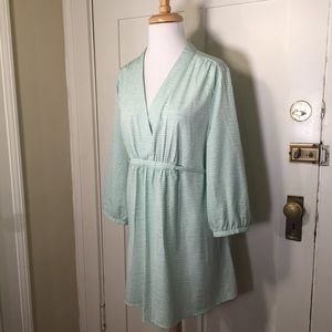Liz Lange Maternity Mint striped belt tunic